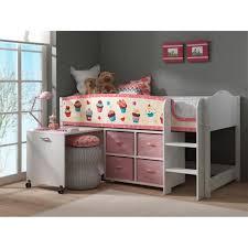 lit mezzanine enfant avec bureau swithome lit mezzanine cupcakes lollipop avec bureau et