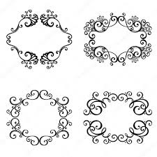 vector decorative ornamental frame for text stock vector