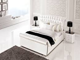 Bedroom Set With Leather Headboard Excellent White Leather Bedroom Sets Useful Inspiration Interior