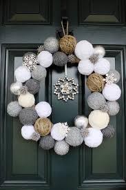 decoration creative christmas wreath crystal snowflakes black