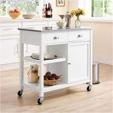 kitchen island cart stainless steel top stainless steel top kitchen island threshold target