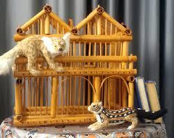 Tiki Home Decor Cage Rattan Etsy