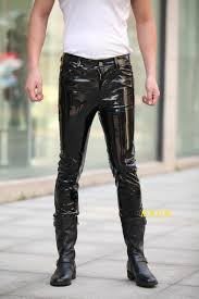 Real Leather Leggings Famous Brand Fashion Men Leather Pants Luxury Designer Man