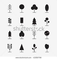 vector set tree icons park icons stock vector 386769253