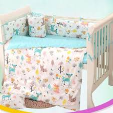 Baby Nursery Bedding Sets 7 Pc Cot Bedding Set For Newborn Babies Infant Room Baby