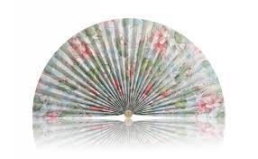 decorative fans pastel tropical flowers pleated decorative fan