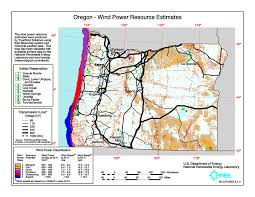 map of oregon 2 windexchange oregon 50 meter community scale wind resource map