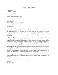 proper resume cover letter format cover letter format line