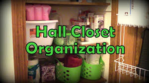 organization closet using dollar tree items