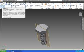 tutorial how to model a hexagonal bolt in autodesk inventor