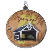 state of vermont glass disk ornaments 4 5 the