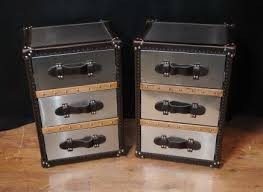 trunk style bedside tables art deco section deco furniture and bronzes