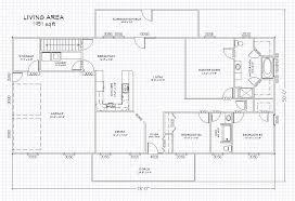 floor plan 1440 sqft wing shaped single level log home rancher