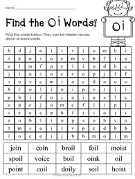 diphthongs free 5 practice sheets for oi and oy diphthongs by