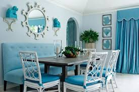 Mirror For Dining Room Sweet Blue Narrow Dining Room With Small Mirror For Enlarging