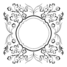 swirly floral ornament frame 4 transparent png svg vector