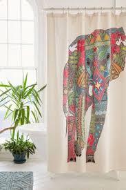magical thinking elephant shower curtain elephant shower