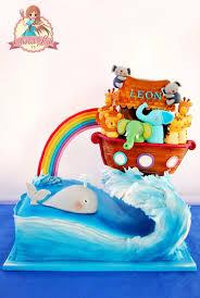 209 best noah u0027s ark cakes images on pinterest noahs ark cake