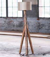 rustic wood floor lamp cashorika decoration