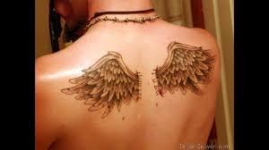 beautiful angel wings tattoo on neck for guys tattoobite com