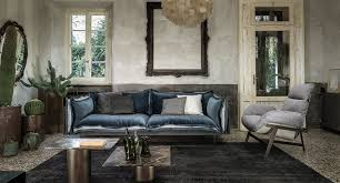 this leather sofa perfectly complements a modern interior design