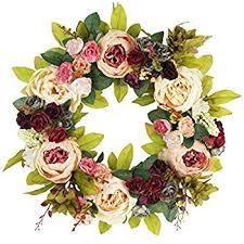 amazon com summer garden spring door wreath 22 in home u0026 kitchen