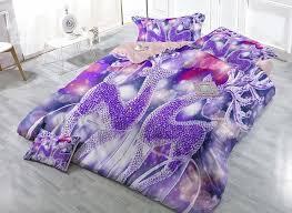 Duvet Cover Lavender Dreamlike Purple Reindeer Print Satin Drill 4 Piece Christmas