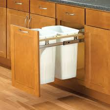 cabinet pull out bottom mount trash can pull out trash can size