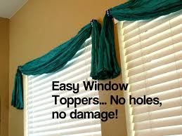 pretty diy window treatment damage free