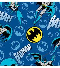 dc comics batman bat signal logo flannel fabric batman