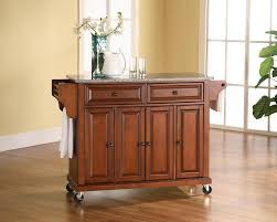 amazon com kitchen cart island solid granite classic cherry