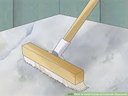 how to install carpet on concrete basement with pictures