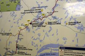 Canada Highway Map by Canada U0027s Ice Road To Diamonds U2013 Eye On The Arctic