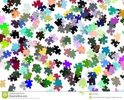 colorful puzzle pieces background stock photo image 39408804