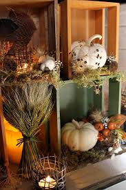 cozy folk art style fall decorations for home and garden