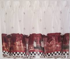 kitchen curtains design amazon com savory chefs kitchen curtains one ruffled valance