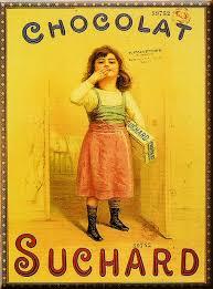 affiche cuisine retro affiche 50x70cm publicite retro chocolat suchard fille vignettes
