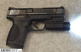 smith and wesson m p 9mm tactical light armslist for sale trade s w m p 45 compact w tac light