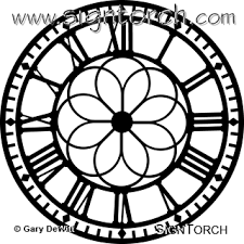 cool clock faces clock face 001 signtorch turning images into vector cut paths