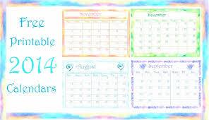 free printable calendars 2014 pretty monthly calendar templates