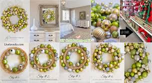 how to make a ornament wreath diy craft projects