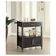 kitchen island granite top cameron granite top kitchen cart wood black linon target