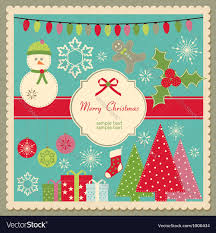 cute christmas card royalty free vector image vectorstock