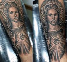 100 sacred heart tattoo designs for men religious ink ideas inside