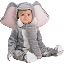 Childrens Animal Halloween Costumes by Elephant Infant Jumpsuit Halloween Costume Walmart Com