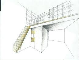 Mezzanine Stairs Design Design Sketch For Stairs Mezzanine John M Reimnitz Architect Pc