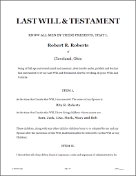 last will u0026 testament legal forms software standard legal