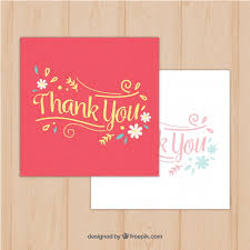 vintage thank you greeting cards vector free