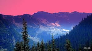 Mountain sky trees cascade forest mountains washington color