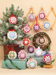 needlework patterns easy cross stitch folded ornaments